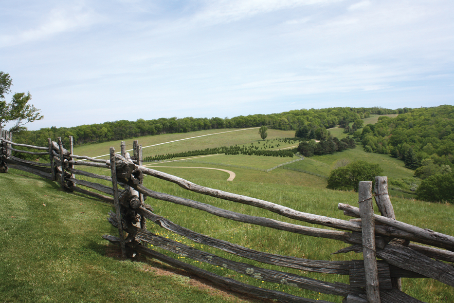 View of the Blue Ridge Parkway from Skylark Farm in Nelson County.