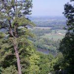 Looking down at the Shenandoah.