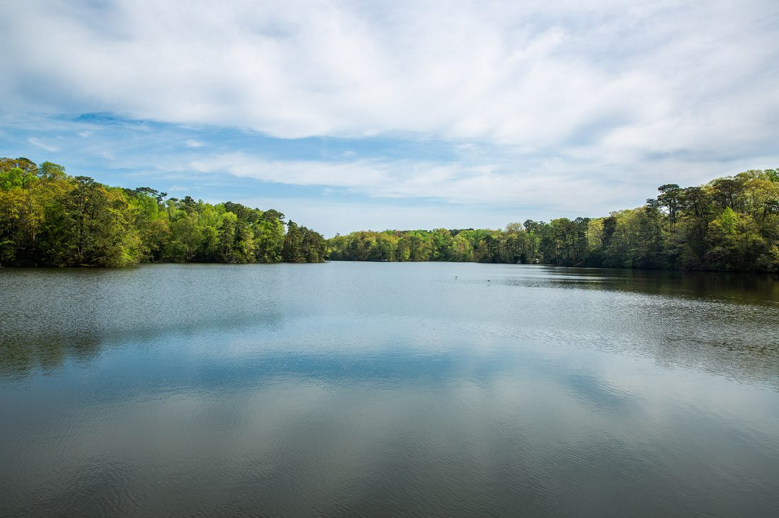 A grant from VOF will soon restore and improve access to The Mariners' Lake, a 167-acre reservoir that was once a popular spot for kayaking and fishing. Photos: The Mariners' Museum and Park.